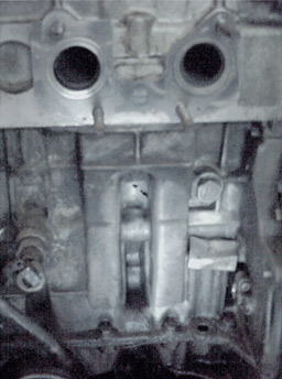 Engine block hole